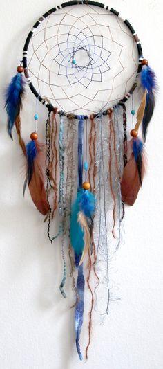 Whisper to the Raven Native Woven Dreamcatcher. $65.00, via Etsy.