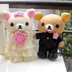 27.49$  Watch now - http://alick4.shopchina.info/go.php?t=1693055919 - Lovely wedding couples dress happy bear doll car  doll bed doll happy wedding gift about 30cm 27.49$ #magazineonlinebeautiful