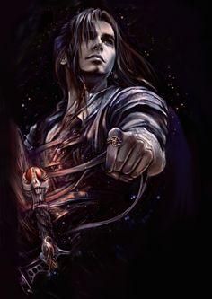eternal 2 by ~kirasanta on deviantART - Is he on a horse? Looks like reigns in his hands. :)