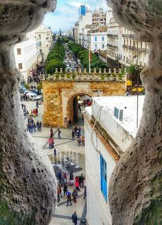 Habib Bourguiba avenu in Tunis, Tunisia. !  For more about Tunisia visit: i-love-tunisia.tumblr.com © Cheima Fezzani