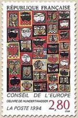 Stamp: European Concil (France) (European Council) Yt:FR S112,Mi:FR CE51,Sn:FR…