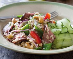 Asian brown rice and ostrich salad with a zesty lime dressing - Eat Out
