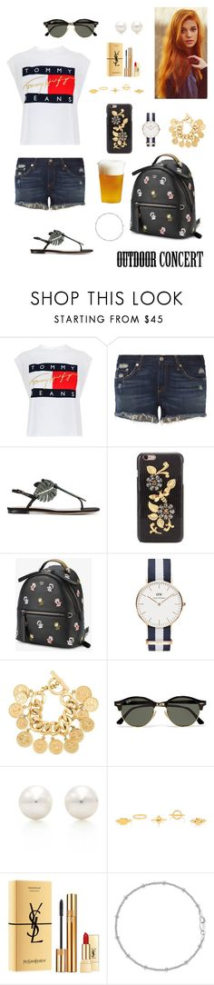 """Outdoor concert"" by tamara-wolfram ❤ liked on Polyvore featuring Tommy Hilfiger, rag & bone, Valentino, Dolce&Gabbana, Fendi, Daniel Wellington, Chanel, Ray-Ban, Tiffany & Co. and Chloé"