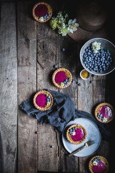 Blueberry Lemon Olive Oil Curd Tartlettes — Adventures in Cooking