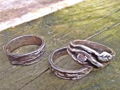 BRANCH SET handmade Engagement His and Hers Wedding bands on Etsy, $375.00
