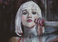 """Maddie Ziegler painting from the """"Chandelier"""" music video. I'm absolutely in love with this painting."""