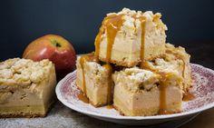 Caramel Cheesecake mit Apfel-Streusel-Topping