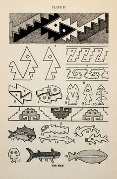 Peruvian Art: A Help for Students of Design by Charles W. Inca Art, Peruvian Art, Peruvian Textiles, Inca Tattoo, Native Design, Art Costume, Mexican Folk Art, Step By Step Drawing, Monster