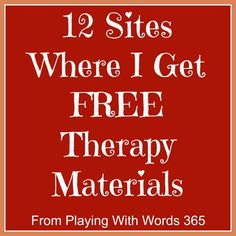 12 sites where I get free materials  - repinned by @PediaStaff – Please Visit ht.ly/63sNtfor all our pediatric therapy pins