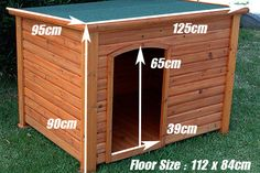 X-large Giant Timber Log Cabin Dog Kennel Wood House Dk012xxl
