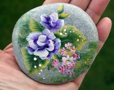 Nº45- painted pebble, hand painted stone, painted rock, painted stone, painted pebbles, piedras pintadas,