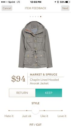Market & Spruce Chaplin Lined Hooded Anorak Jacket - maybe light enough for SoCal 'winter'? Very cute. #stitchfix stitchfix.com/referral/8456951