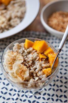 Recipe: Breakfast Barley Bowl with Mango, Coconut, and Banana — Recipes from The Kitchn
