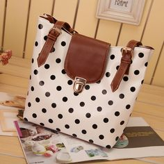 (FL002597) Japanese Vivi Style 2012 New Spring Models Korean Sweet Retro Shoulder Bag Fashion Candy Dot Handbag