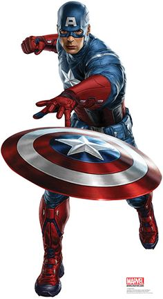 Captain America - Marvel Avengers Lifesize Cardboard Cutout. I would so put this in my house!!! I want an Avenger themed room in my Dream House