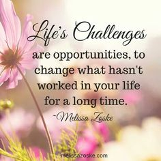 Life's challenge  are opportunities. ..