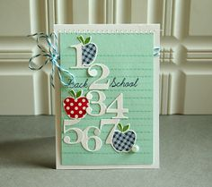 Gallon:Quart:Pint Color Challenge - Back 2 School Card by Danielle Flanders for Papertrey Ink (August 2013)