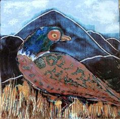 Pheasant, Stoneware, Ceramics, Drawings, Artist, Pictures, Painting, Animals, Ceramica