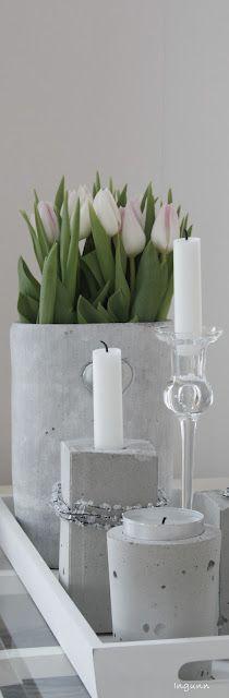 centro de mesa de concreto  - DIY