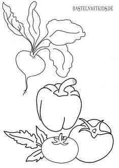 ausmalbilder obst und gemüse | ausmalbilder zum ausdrucken, kindergarten malvorlagen, ausmalbilder