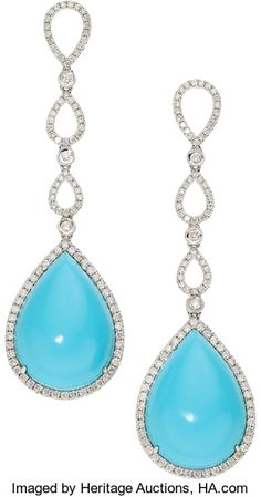 6b0181278 1559 best A Turquoise Earrings images in 2019 | Jewels, Ear rings ...