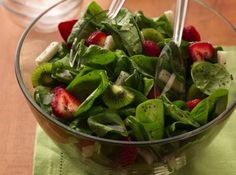 Strawberry & Jicama Spinach Salad for Two - One of the best salads i've tried in a while