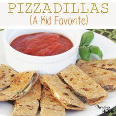 Pizzadillas. A healthy dinner idea that kids will love.