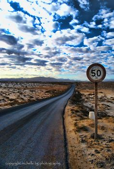 My own pic of a road in El Cotillo, Fuerteventura, Canary Islands