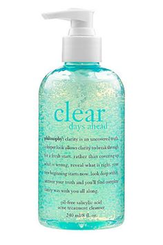 Philosophy Clear Days Ahead Oil-Free Salicylic Acid Acne Treatment Cleanser, $20, sephora.com