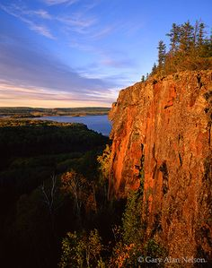 Looming Cliffs over Fowl Lake  Superior National Forest, Minnesota