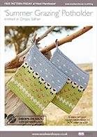 Free Pattern! 'Summer Grazing' Potholder in Drops Safran