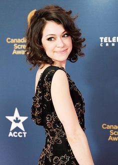 Tatiana Maslany on the red carpet at the Canadian Screen Awards in Toronto on Sunday March 9, 2014.