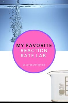 Experiment with factors affecting reaction rates in this lab. Quick set up using household items. Great for grade 9 science class or at home science experiment. #athome #kitchenscience #grade9 #reactionratefactors Chemistry Lessons, Biology Lessons, Chemistry Labs, Science Chemistry, Science Lessons, At Home Science Experiments, Science Topics, Science Fun, Dna Extraction Lab