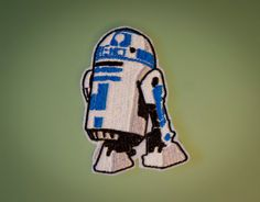 R2D2  Star Wars Embroidered Robot Droid Ironon Patch by OKsmalls, $6.00
