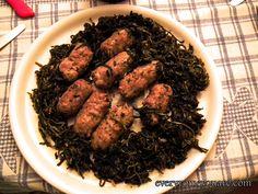 Roman recipe for Cicoria and Sausage