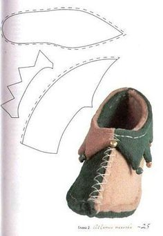 Making a gnome costume for a boy – Shoes Office Doll Shoe Patterns, Clothing Patterns, Sewing Patterns, Costume Patterns, Gnome Costume, Elf Shoes, Diy Dolls Shoes, Doll Accessories, Leather Working