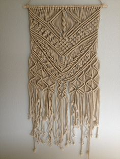 macrame wall hanging macrame home decor by biziknitting4you - Home Decor Wall Hangings