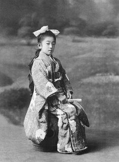 Princess Nagako (Empress Kojun), circa 1921. Japan.