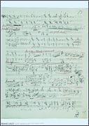 Franz Liszt Music Manuscript Poster - Piano Sonata in B minor