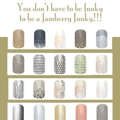 Jamberry has something for everyone! They have the subtle and classy along with the outrageous and funky! #nails #classy