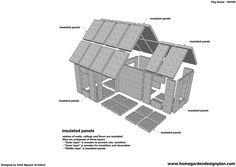 home garden plans: DH300 - Dog House Plans Free - How to Build an Insulated Dog House - Insulated Dog House Plans for Construction