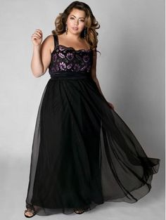 Long Plus Size Formal Dress with Beading and Sleeves