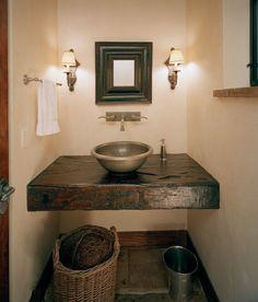 Old World-Influenced Bathroom Vanities