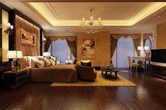 Elegant Master Bedrooms | Elegant Master Bedroom B2-c12 3D Model .max - CGTrader.com