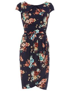 Jersey floral cap sleeve wrap dress from Dorothy Perkins. Le sigh.