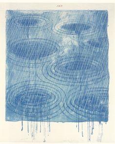 David Hockney - Rain 1973 Lithograph
