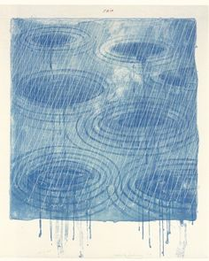 David Hockney - Rain 1973 Lithograph