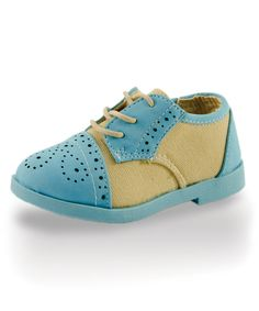 Look what I found on #zulily! Twinkie Blue & Buttercream Oxford Dress Shoe by Twinkie #zulilyfinds