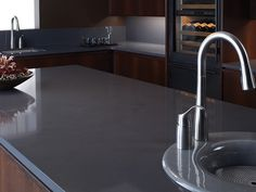 grey quartz countertops. so simple.