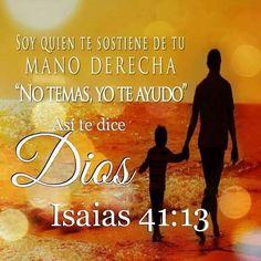 LaBiblia dice que el Guía Supremo, Jehová Dios, nos permite andar con Él (Génesis 5:24; 6:9). ¿Auxilia Jehová a sus siervos en el camino? Él responde en Isaías 41:13.